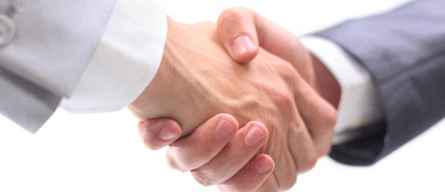 Partner Handschlag